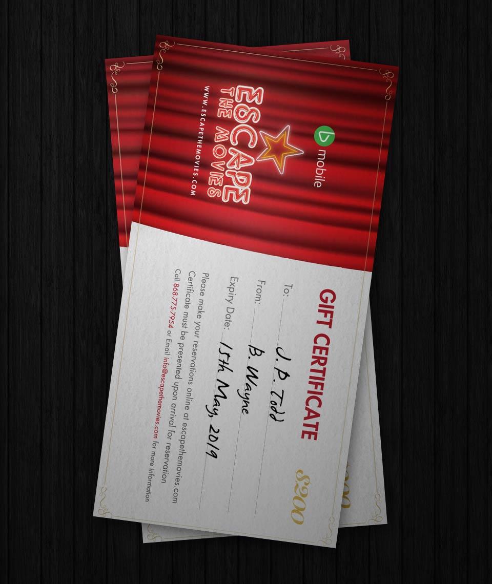 ETM Gift Certificates